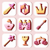Tale icon set Stock Photo