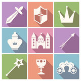 Tale icon vector set Royalty Free Stock Photo