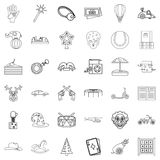 Tale icons set, outline style Royalty Free Stock Images