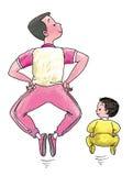 Tale padre, tale figlio illustrazione di stock