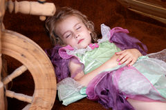 Tale of the sleeping princess royalty free stock image