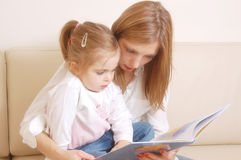 Tale story reading stock photography