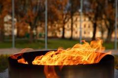 Talen †‹â€ ‹van brand het branden in de kaars Stock Fotografie