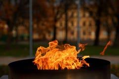 Talen †‹â€ ‹van brand het branden in de kaars Stock Afbeelding