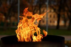 Talen †‹â€ ‹van brand het branden in de kaars Royalty-vrije Stock Foto