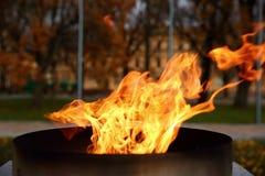 Talen †‹â€ ‹van brand het branden in de kaars Stock Foto