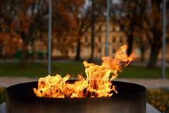 Talen †‹â€ ‹van brand het branden in de kaars Royalty-vrije Stock Fotografie