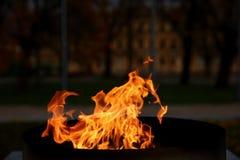 Talen †‹â€ ‹van brand het branden in de kaars Stock Afbeeldingen