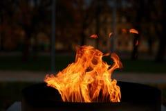 Talen †‹â€ ‹van brand het branden in de kaars Royalty-vrije Stock Foto's