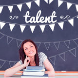 Talent against student thinking in classroom Stock Image