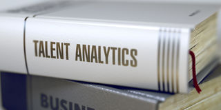 Talent Analytics Concept. Book Title. 3D. Stock Photos
