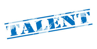 Talent blue stamp. Isolated on white background Royalty Free Stock Photography