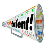 Talent Bullhorn Megaphone Calling Skilled Workers Job Prospects Royalty Free Stock Photos
