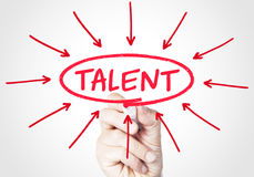Talent. Concept sketched on screen royalty free stock image