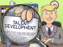 Talent Development through Magnifying Glass. Doodle Design. Stock Photography