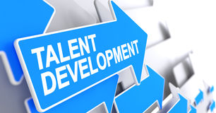 Talent Development - Message On Blue Cursor. 3D. Stock Photography