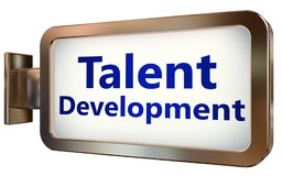 Talent Development on billboard background. Talent Development wall light box billboard background , isolated on white Stock Photography
