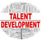 Talent Development word cloud. Creative illustration of idea word lettering typography . 3D rendering Royalty Free Stock Photography