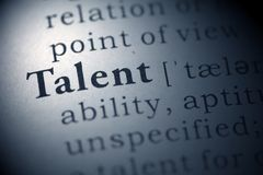 Talent. Dictionary definition of the word talent royalty free stock photos