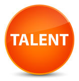 Talent elegant orange round button Royalty Free Stock Photos