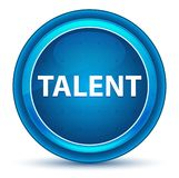 Talent Eyeball Blue Round Button. Talent Isolated on Eyeball Blue Round Button vector illustration