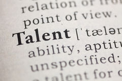 Talent. Fake, Dictionary definition of the word talent royalty free stock images