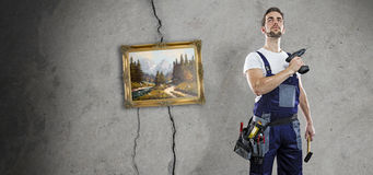 Talent-free handyman Stock Images