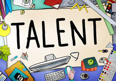 Talent Gifted Skills Abilities Capability Expertise Concept.  Stock Image