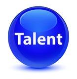 Talent glassy blue round button. Talent isolated on glassy blue round button abstract illustration royalty free illustration