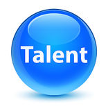 Talent glassy cyan blue round button Royalty Free Stock Images