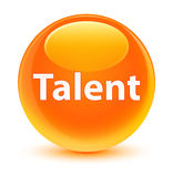 Talent glassy orange round button Stock Photo