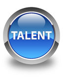 Talent glossy blue round button Stock Images