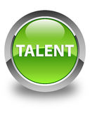 Talent glossy green round button Stock Image