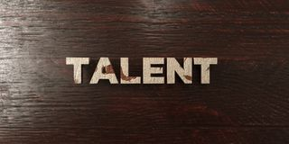 Talent - grungy wooden headline on Maple  - 3D rendered royalty free stock image Stock Photography