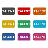 Talent ikona lub logo, koloru set ilustracja wektor