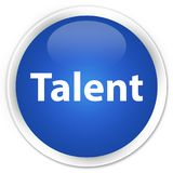 Talent premium blue round button. Talent isolated on premium blue round button abstract illustration Stock Photo