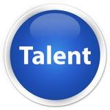 Talent premium blue round button. Talent isolated on premium blue round button abstract illustration royalty free illustration