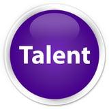 Talent premium purple round button Royalty Free Stock Photo