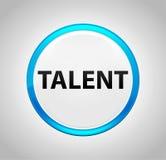 Talent Round Blue Push Button stock illustration