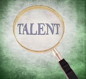 Talent magnify Stock Image