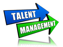 Talent management in arrows Royalty Free Stock Photos