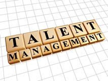 Talent management in golden cubes Stock Images