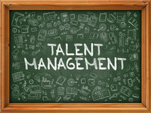 Talent Management - Hand Drawn on Green Chalkboard. Royalty Free Stock Image