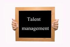 Talent management. Hand write Talent management word concept stock photos
