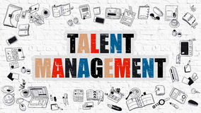 Talent Management in Multicolor. Doodle Design. Royalty Free Stock Image