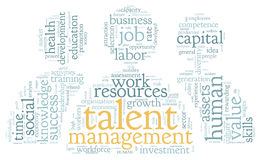 Talent management in word tag cloud Stock Images