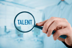 Talent needed. Human resources concept. Recruiter looking for (search) talented employees Royalty Free Stock Image