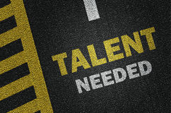Talent needed. On the road royalty free stock photos