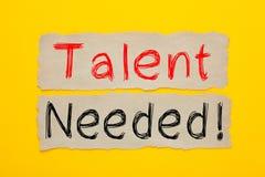 Talent Nodig Concept stock foto