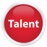 Talent premium red round button Royalty Free Stock Photography